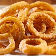 Hot and Tasty Onion Rings on BigOven: Here is how to make a terrific appetizer of Hot and Tasty Onion Rings. These are served with Betty's Surfin' Seafood Cocktail Sauce or ketchup.
