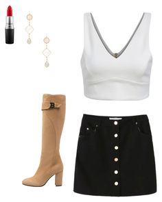 """Untitled #264"" by rainbowcat411 ❤ liked on Polyvore featuring Alanna Bess, MAC Cosmetics, women's clothing, women, female, woman, misses and juniors"