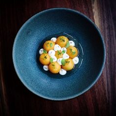 Cantaloupe, sour cream, mint, lime, in a mint shrub & Madagascan pepper syrup. ✅ By - @musketmatt ✅ #ChefsOfInstagram