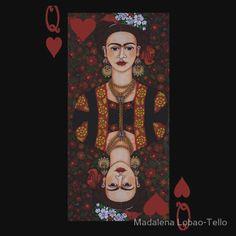 Frida Kahlo,  Queen of Hearts II