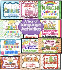Calendar Activities of Language Bundle and June FREEBIE!