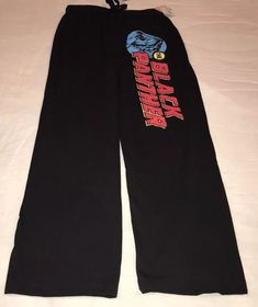 e33c389c9e6c NWT Mens MARVEL Black Panther Lounge Sleep Pajama Pants X-MAS SZ SMALL  Black