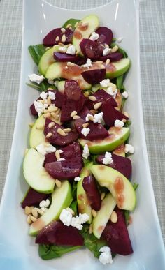 Beet, Apple & Goat Cheese Salad.  One of my very favorite combos!