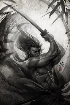 Digital Illustrations by Stanley Lau. Asian martial arts