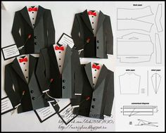 diy tuxedo cards or invitations with template cricut creations