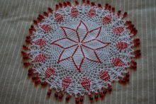 ジャグカバー beads crochet jug cover Doilies Crochet, Beaded Crochet, Milk Jug, Embroidery, Beads, Knitting, Holiday Decor, Cover, Pearls