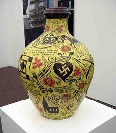 Grayson Perry, Triumph of Innocence Contemporary Art vase Ceramic Clay, Ceramic Vase, Ceramic Pottery, Grayson Perry, Clay Design, Ceramic Design, Turner Prize, English Artists, Ceramic Artists