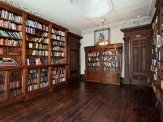 Wood shelving in Steinway Mansion, Astoria, NY.