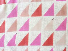 Japanese Fabric - geo polar bears double gauze - pink