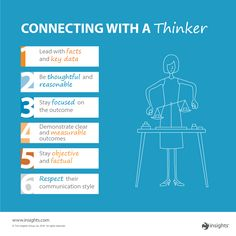 "When someone tends to base their decision on what they will effect, how do you connect with a ""Thinker""?"