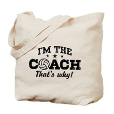 Volleyball Coach Tote Bag on CafePress.com