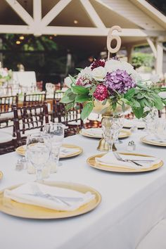 Wedding reception elegant table settings. | Table Settings ...