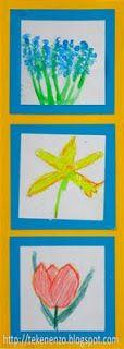 Welke bloemen hebben ze in het 'onbekende land'?  Tekenopdracht: verzin 3 soorten bloemen en maak alle 3 de soorten met andere materialen.