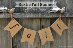 Rustic Fall Banner using Core'dinations Cardstock. With some simple embossing you can create a pretty fall banner in no time! #coredinations #cardstock #banners #DIY #fall #homedecor #kraft
