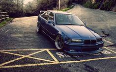 Scarica sfondi BMW M3 E36, strada, tuning, blu m3, BMW