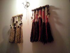 Embarrilados decorativos, hechos con lanas naturales chilenas