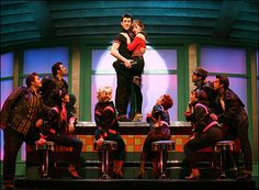 Max Crumm, Laura Osnes and cast in Grease Photo by Joan Marcus Playbill.com