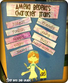 Amelia Bedelia's Character Traits use with first grade common core standard 1.RL.3