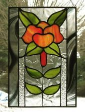 "Stained Glass ""Swing Time"" (JL707) panel suncatcher floral"