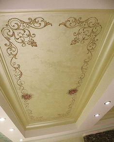 Gather some inspiration and get in touch should you want further information on how to create an impact with your fifth wall & Roof. Gold Painted Walls, Painted Curtains, Painted Floors, Ceiling Murals, Ceiling Decor, Ceiling Design, Kitchen Ceiling Lights, Home Ceiling, Accent Ceiling