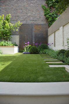 Steep Gardens, Back Gardens, Outdoor Plants, Outdoor Gardens, Outdoor Patios, Back Garden Design, London Garden, Sloped Garden, Garden Deco
