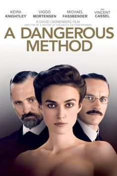 A Dangerous Method , starring Michael Fassbender, Keira Knightley, Viggo Mortensen, Vincent Cassel. A look at how the intense relationship between Carl Jung and Sigmund Freud gives birth to psychoanalysis. Hd Movies, Movies Online, Movies And Tv Shows, Movie Tv, Movies 2014, Movies Free, Movie List, Michael Fassbender, Viggo Mortensen