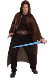 Adult's Star Wars Jedi Knight Costume Set with Robe, Belt, Lightsaber and Braid Jedi Costume, Knight Costume, Halloween Kostüm, Halloween Costumes, Blue Lightsaber, Skywalker Lightsaber, Jedi Ritter, Lightsaber
