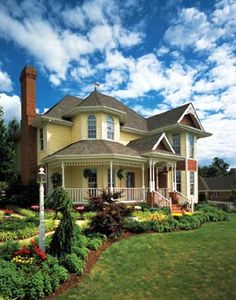 Country   Farmhouse  Victorian   House Plan 95647  But Kim would have to help me plant something in the yard...