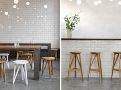 Made by Loehr, the JL 1 Faber is a stool made from solid oak with a base that is reminiscent of traditional timber house construction. It's simple, yet it evokes quite a bit of emotion and perhaps even nostalgia. The JL 4 Faber is the same design, but in a bar stool version.