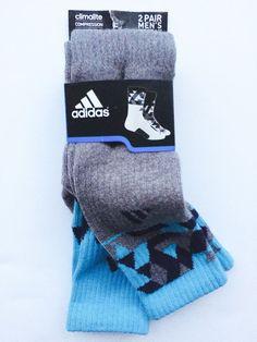 Adidas 2 Pair Mens Energy Camo Crew Socks Compression ClimaLite Shoe Sz 6 12 New   eBay