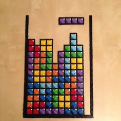 Tetris Game perler bead sprite