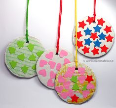 palline di natale faidate Crafts For Kids, Arts And Crafts, Christmas Crafts, Christmas Ornaments, Diy Weihnachten, Winter Activities, Infant Activities, Advent, Simple Christmas