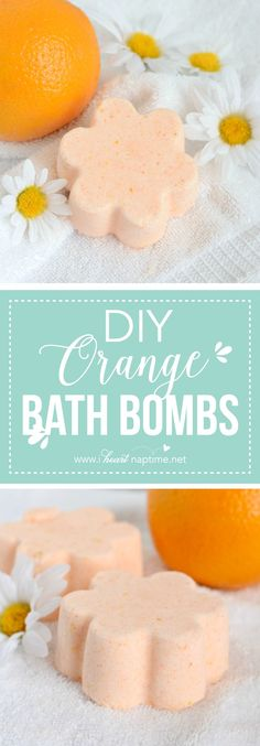 DIY Orange Bath Bombs - it's easy to make your own orange bath bombs with a few simple ingredients. They make perfect gifts, or you can keep them for yourself!