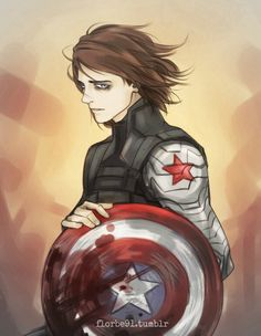 Winter Soldier, looking particularly bishie/woobie. I like it. x)