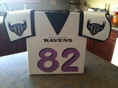 Valentine mailbox football jersey. For my boy!