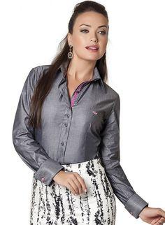 24 melhores imagens de Camisa Social Feminina Lisa  8ca08cfd402