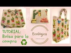 Tutorial: Bolsa plegable para la compra - YouTube