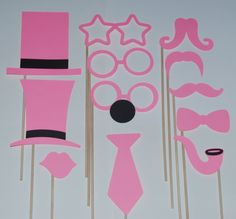 Photo Booth Props Breast Cancer Awareness by PurpleLilysCastle, $20.00
