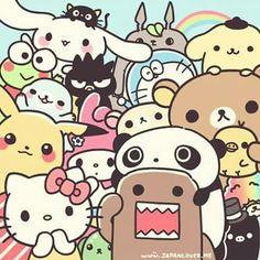 Imagem de kawaii, pikachu, and hello kitty