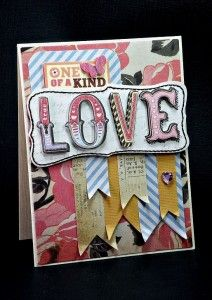 One of a Kind Love, Card by Guest Designer Britt Bass for Scrapbuck.com