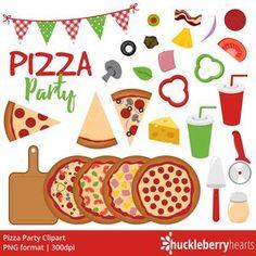 Movie Clipart Movie Night Clip Art Popcorn Clipart Cinema | Etsy Movie Clipart, Pizza Art, How To Make Pizza, Preschool Crafts, Pepperoni, Decoration, 2nd Birthday, Happy Birthday, Planner Stickers
