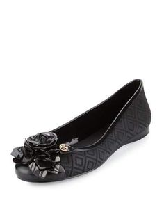 TORY BURCH BLOSSOM JELLY BALLERINA FLAT. #toryburch #shoes #flats