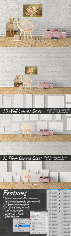 Canvas Mockups Vol 126. Product Mockups. $6.00