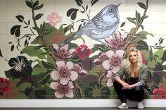 Hayley King, aka FLOX, has built her artistry on street art, Maoritanga, and pure business sense. New Zealand Art, Wave Art, Dream Wall, Public Art, Asian Art, Mixed Media Art, Art Projects, Street Art, Tapestry