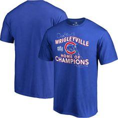Men's Chicago Cubs Royal 2016 World Series Champions Wrigleyville T-Shirt