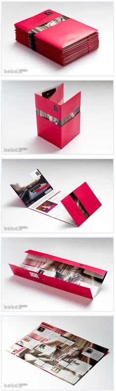 muestra de folletos creativos