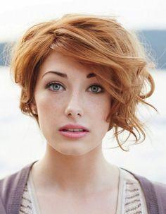 Coupe courte cheveux roux été 2016 - Les plus belles coupes courtes de Pinterest - Elle