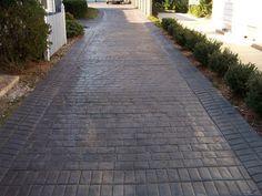 Stamped Concrete Patio DIY | London Cobblestone Driveway