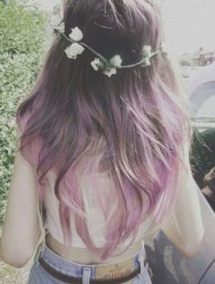 Violet/LavenderHair&FlowerHeadBand