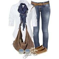 Stylish Eve Outfits 2013: Casual Wear with Jeans